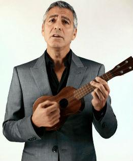george clooney ukulele