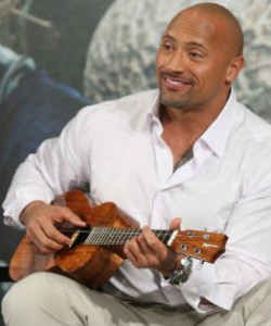 dwayne johnson ukulele