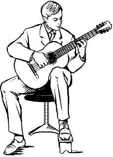 классическая посадка гитариста