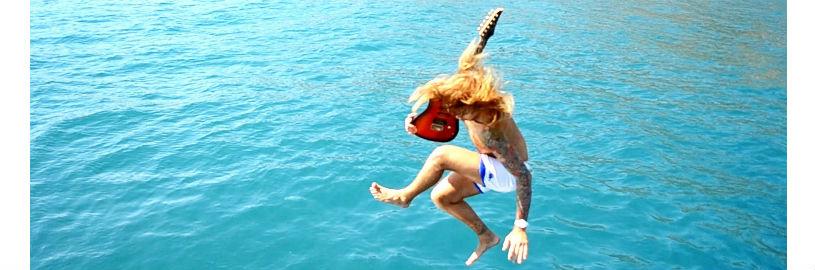 гитара, с гитарой в воду