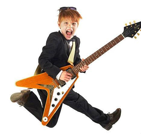 child with guitar, ребенок с гитарой